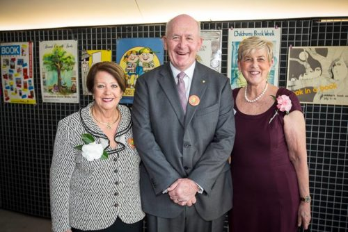 Lady Cosgrove, the Governor-General Sir Peter Cosgrove, the CBCA NSW Branch President Gail Erskine - at the 2016 CBCA Book of the Year Awards
